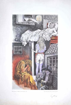 Allegory  - Vintage Offset Print Hand Signed by Renato Guttuso - 1970s