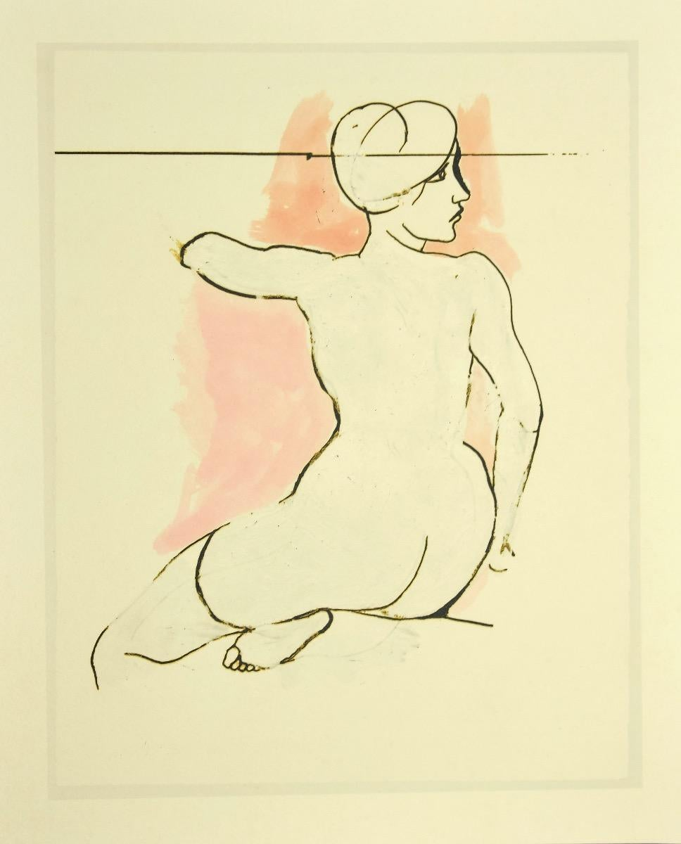 Bare Back - Vintage Offset Print after Renato Guttuso - 1980s