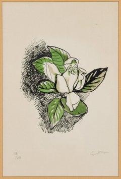 Gardenia - Original Lithograph by Renato Guttuso - 1972