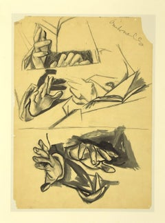 Hands - Vintage Offset Print after Renato Guttuso - 1970s