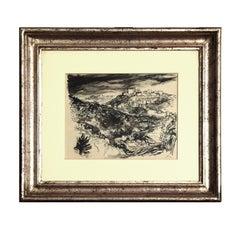 Monte Compatri view - 20th century - Renato Guttuso - China Ink - Modern