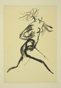 Running Woman - Vintage Offset Print after Renato Guttuso - 1980s