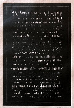 Words -  Composition #9, abstract etching by Renaud Allirand