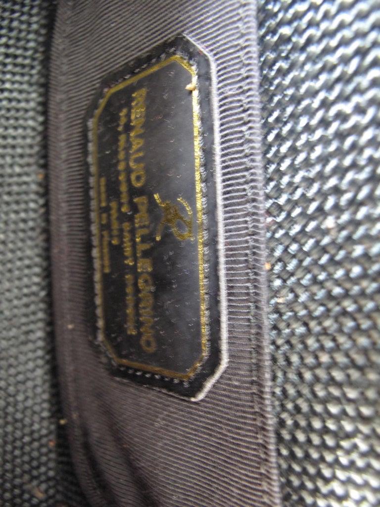 Renaud Pellegrino black raffia mini bag with jewel embellishments In Excellent Condition For Sale In Austin, TX