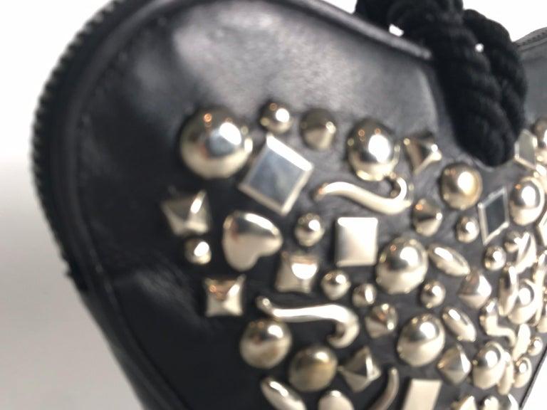 Women's or Men's Renaud Pellegrino Heart Studded Wristlet For Sale