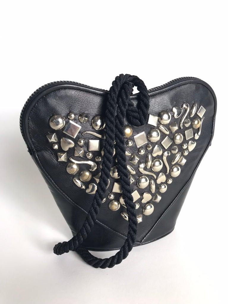 Renaud Pellegrino Heart Studded Wristlet For Sale 1