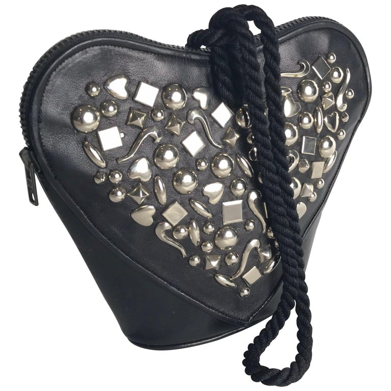 Renaud Pellegrino Heart Studded Wristlet For Sale