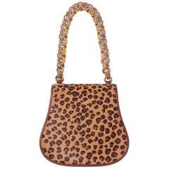 Renaud Pellegrino Leopard Pattern Handbag