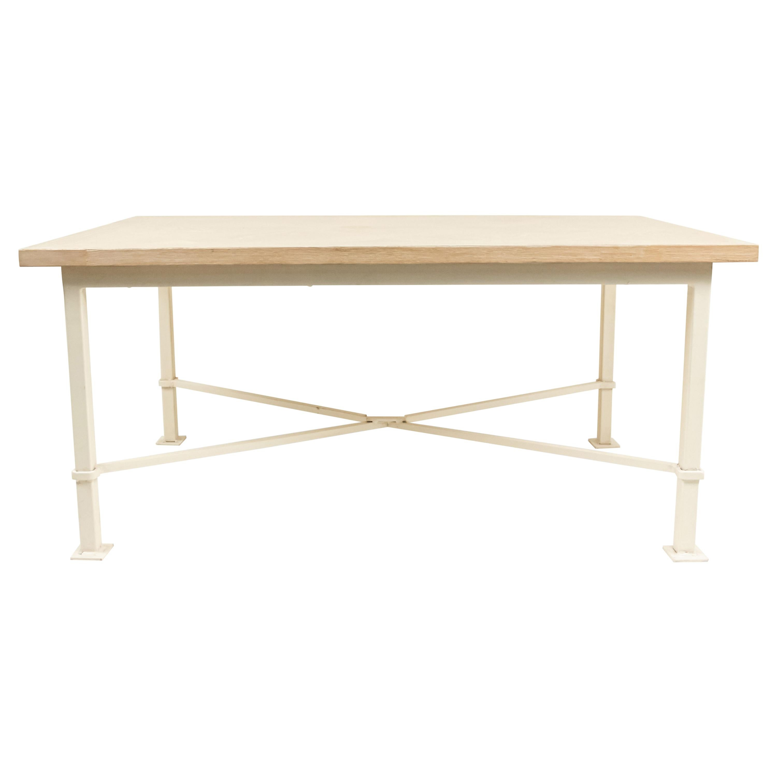 French Midcentury Cerused Oak Coffee Tables