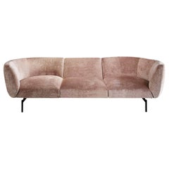 Pink Velvet Rendez-Vous Sofa, Designed by Sergio Bicego, Made in Italy