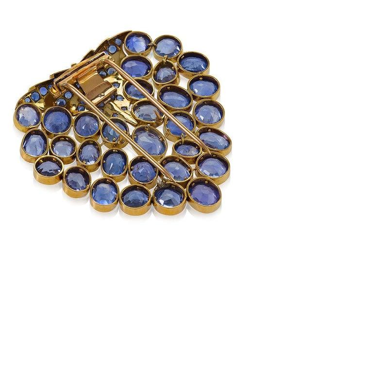 René Boivin Art Deco Gold and Sapphire