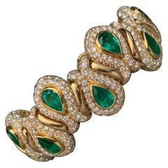 Rene Boivin Emerald and Diamond Bracelet