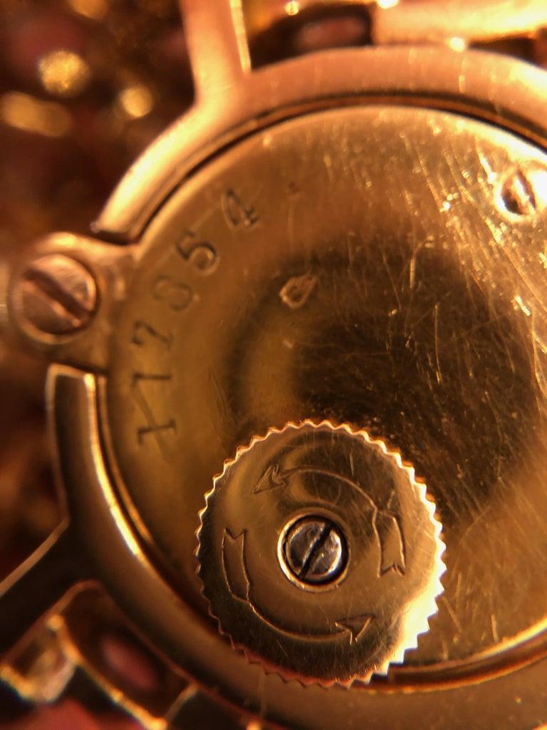 Women's Rene Boivin Gold and Diamond Fishscale Design Bracelet Watch For Sale