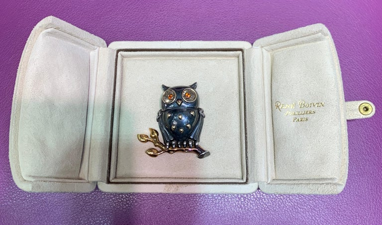 Rene Boivin Owl Brooch For Sale 5