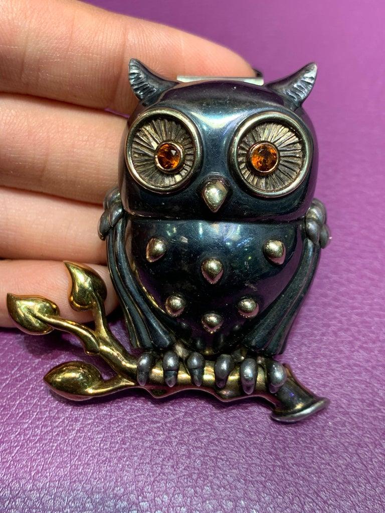 Women's Rene Boivin Owl Brooch For Sale