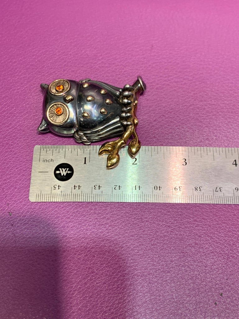 Rene Boivin Owl Brooch For Sale 1