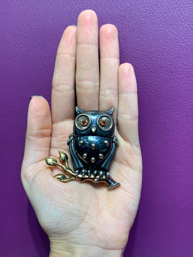 Rene Boivin Owl Brooch For Sale 2