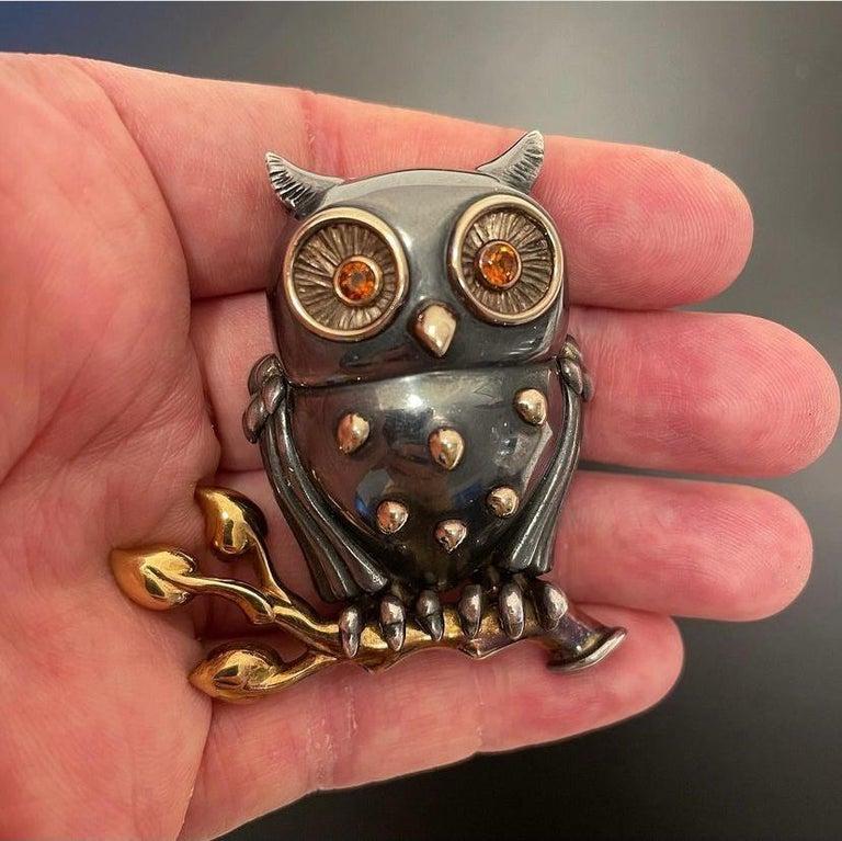 Rene Boivin Owl Brooch For Sale 3