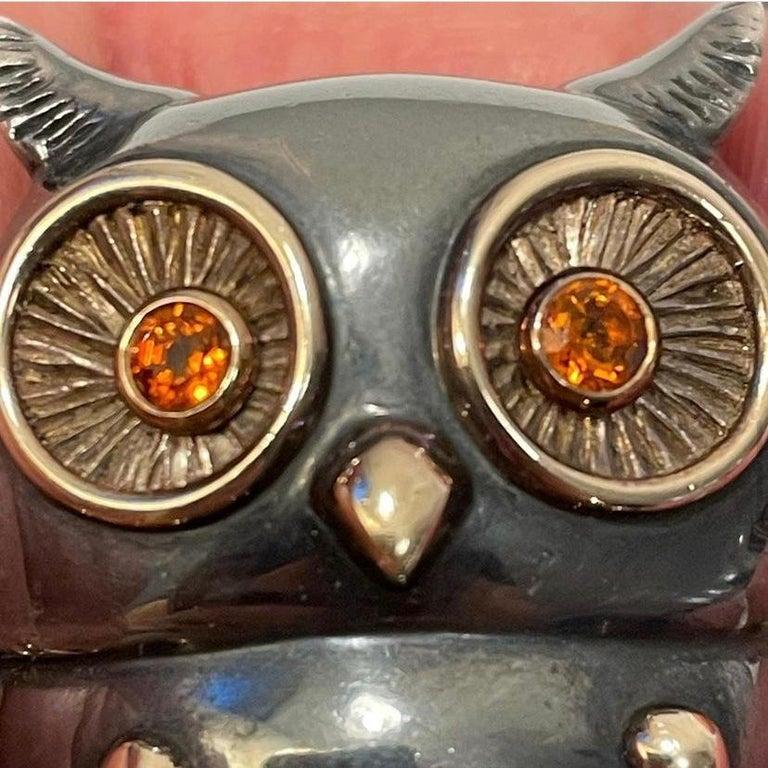 Rene Boivin Owl Brooch For Sale 4