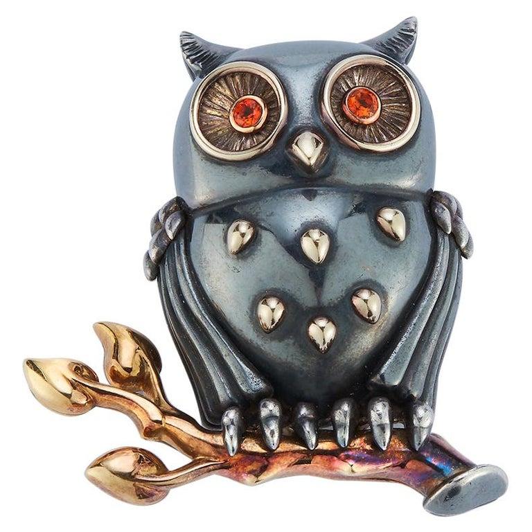 Rene Boivin Owl Brooch For Sale
