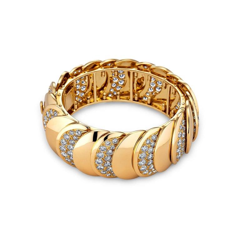 Contemporary Rene Boivin Paris Vintage Diamond Gold Bracelet For Sale