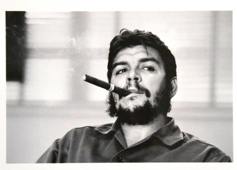 """Ernesto """"Che"""" Guevara is an original photo realized by René Burri in 1963, and soon become one of his most celebrated portraits, as well as one of the most famous images of Ernesto """"Che"""" Guevara.  Original black and white C-Type proof on Fuji"""