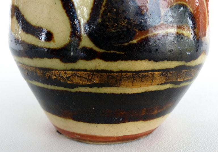 René Buthaud French Art Deco Ceramic Vase, Nude Figures For Sale 3