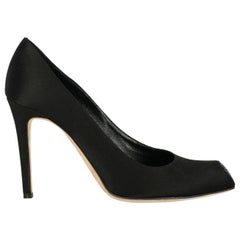Rene Caovilla Woman Pumps Black Fabric IT 41