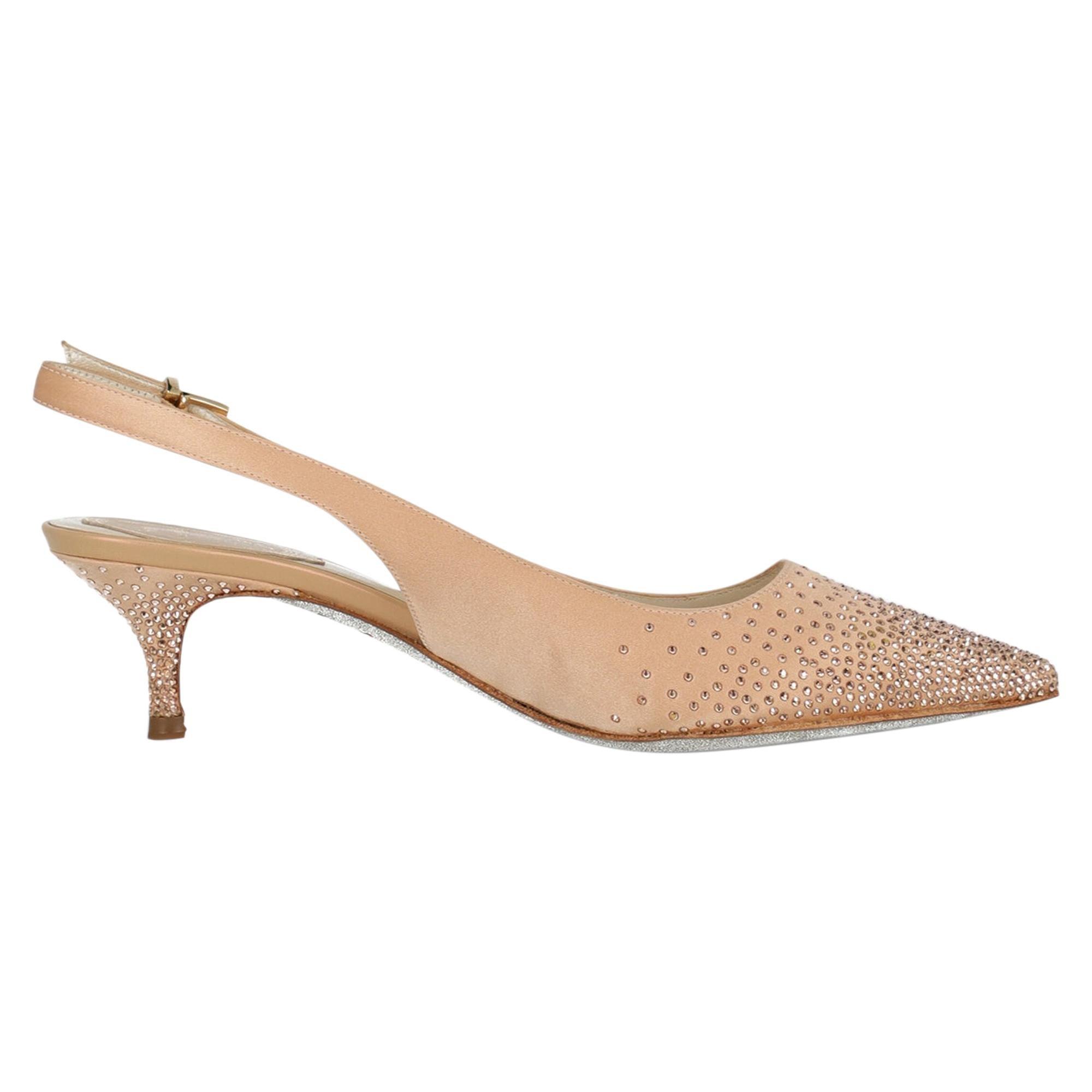 Rene Caovilla Woman Sale Pink Fabric IT 38