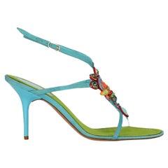 Rene Caovilla  Women   Sandals  Blue Leather EU 38