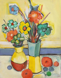 Abstracted 'Still Life of Flowers', Art Salons of Paris, L'Ecole des Beaux Arts