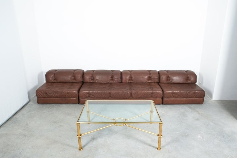 Large Gilt Iron Coffee Table Giovanni Banci for Hermes, Italy, Midcentury For Sale 1