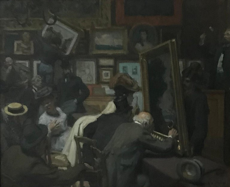 An auction at Drouot's in Paris. - Painting by René Francois Xavier Prinet