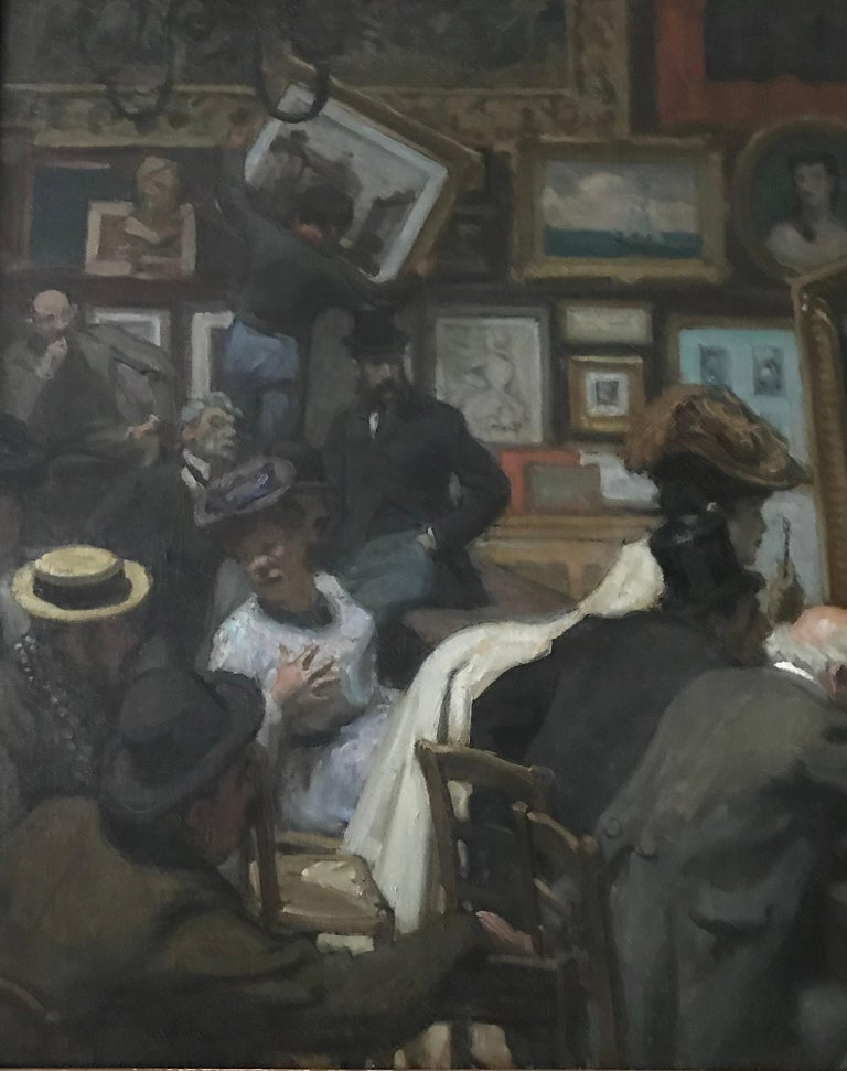 An auction at Drouot's in Paris. Oil on canvas. Signed lower right. Around 1900-1910.  René François Xavier Prinet (31 December 1861, Vitry-le-François – 26 January 1946, Bourbonne-les-Bains) was a French painter and illustrator who drew his