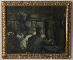 An auction at Drouot's in Paris.