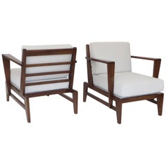 Rene Gabriel French Lounge Chairs Reconstruction Period