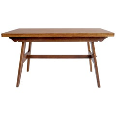 René Gabriel, Oak Dining Table, France, 1945