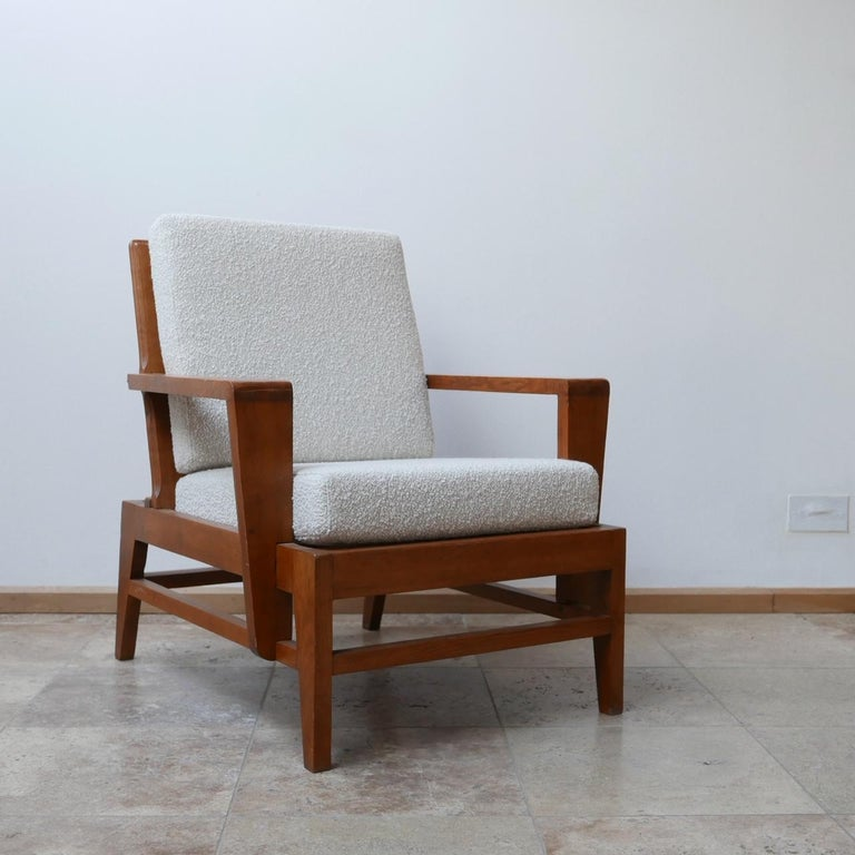 René Gabriel Re-Construction French Midcentury Armchairs For Sale 5