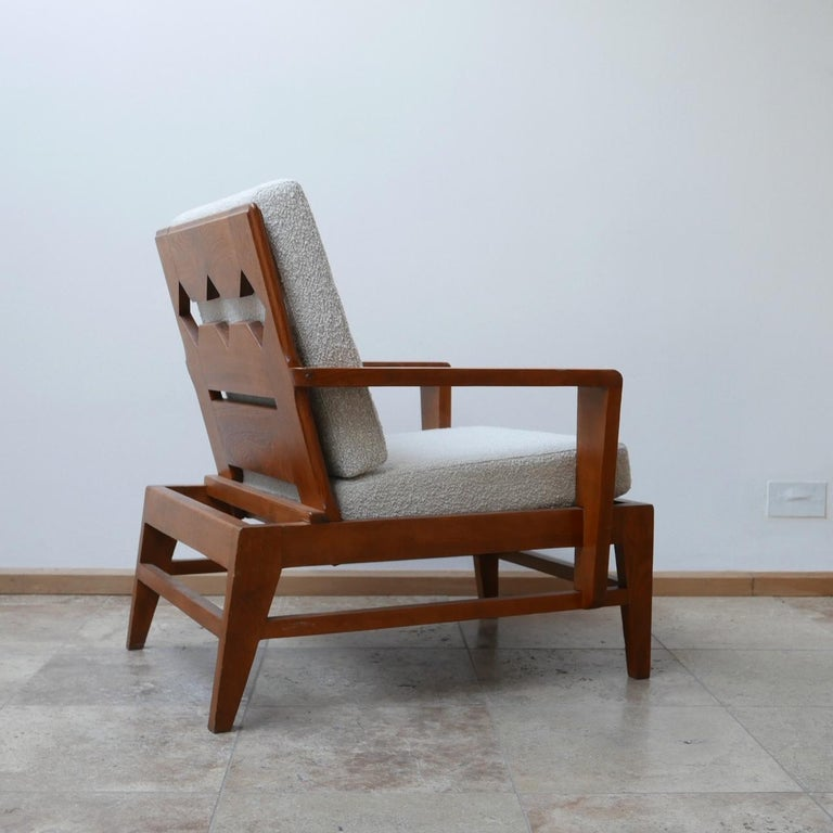 René Gabriel Re-Construction French Midcentury Armchairs For Sale 6
