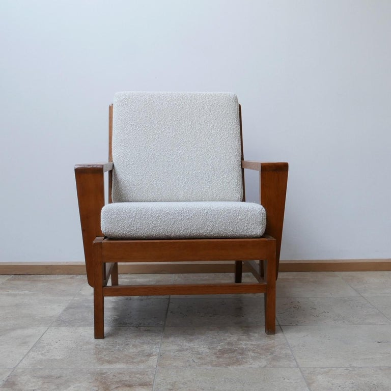 René Gabriel Re-Construction French Midcentury Armchairs For Sale 11