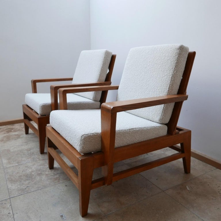 Mid-Century Modern René Gabriel Re-Construction French Midcentury Armchairs For Sale