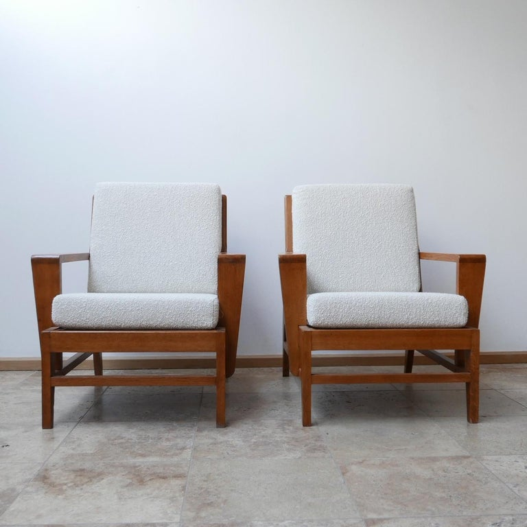 René Gabriel Re-Construction French Midcentury Armchairs In Excellent Condition For Sale In Surbiton, Surrey