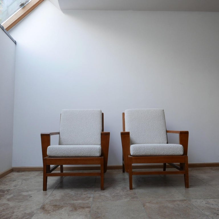 Mid-20th Century René Gabriel Re-Construction French Midcentury Armchairs For Sale