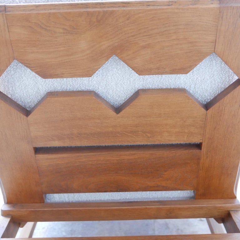 Wood René Gabriel Re-Construction French Midcentury Armchairs For Sale