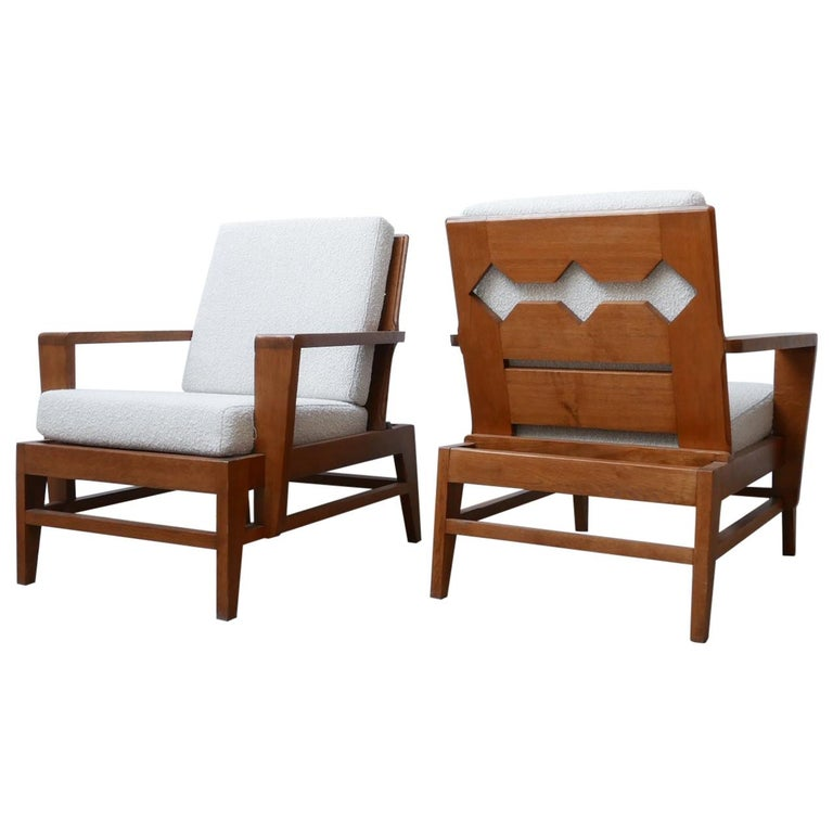 René Gabriel Re-Construction French Midcentury Armchairs For Sale