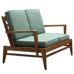 Rene Gabriel Settee in Solid Oak