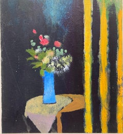 """Bouquet Au Rideau Jaune"" : Bouquet with Yellow Curtain"