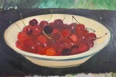Untitled Still Life: Bowl Of Cherries On A Table