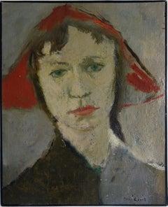 Woman of Art Deco - Original Oil painting, Handsigned