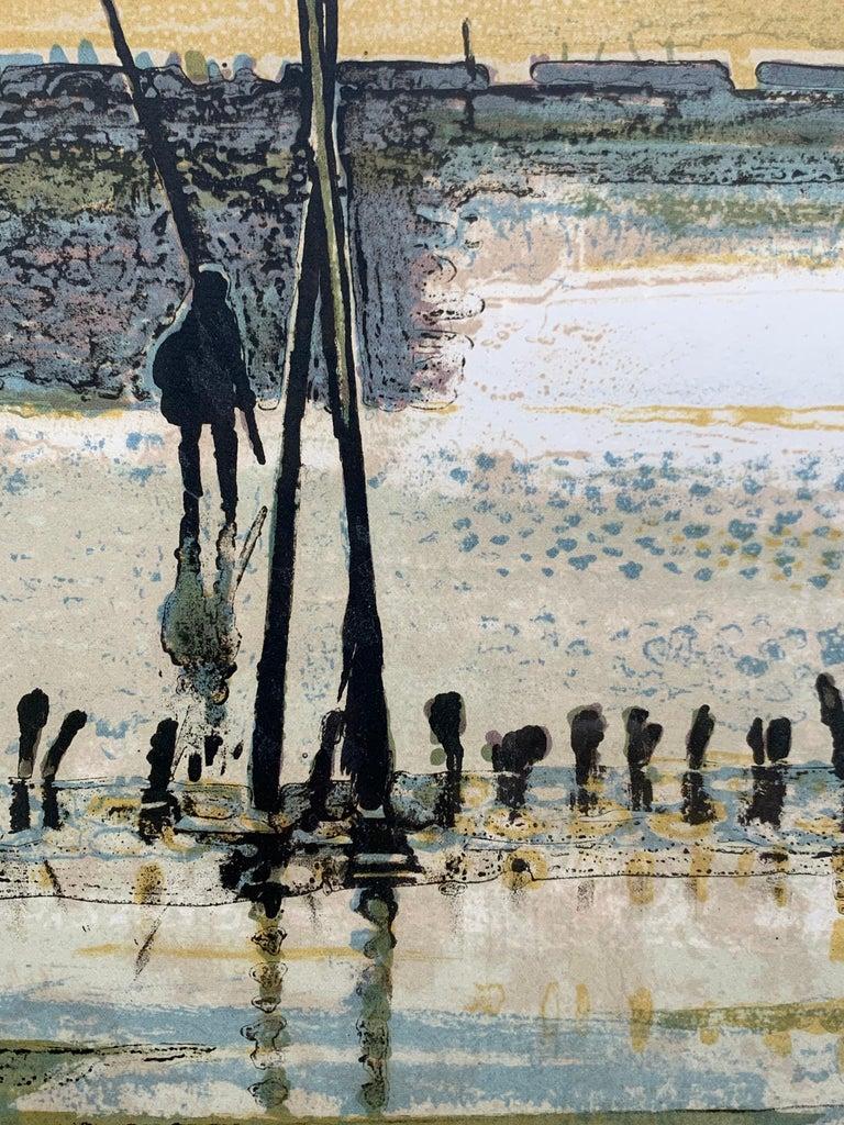 La Plage, Arcachon, Marée basse. (French beach landscape)  For Sale 1